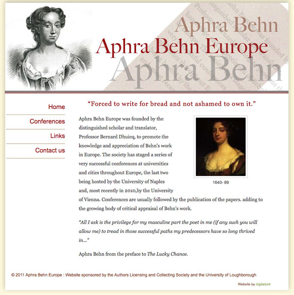 a literary analysis of the preface to the lucky chance by aphra behn